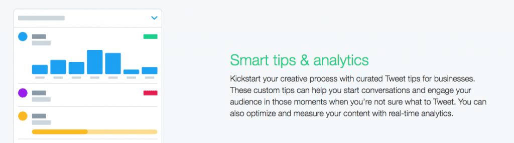 Smart tips & analytics