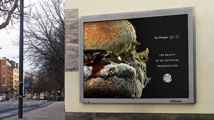 Moldy Whooper, la campaña de Burger King.
